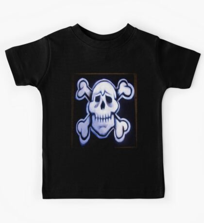skull over crossed bones t Kids Clothes