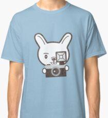 Cute Photographer Rabbit Classic T-Shirt