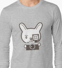 Cute Photographer Rabbit Long Sleeve T-Shirt