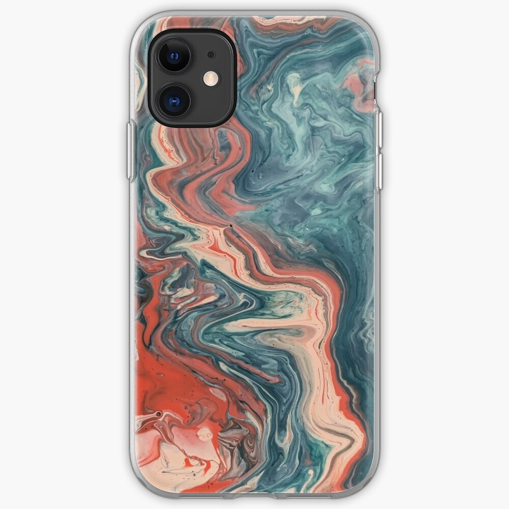 Red and blue art phone case iPhone Case & Cover