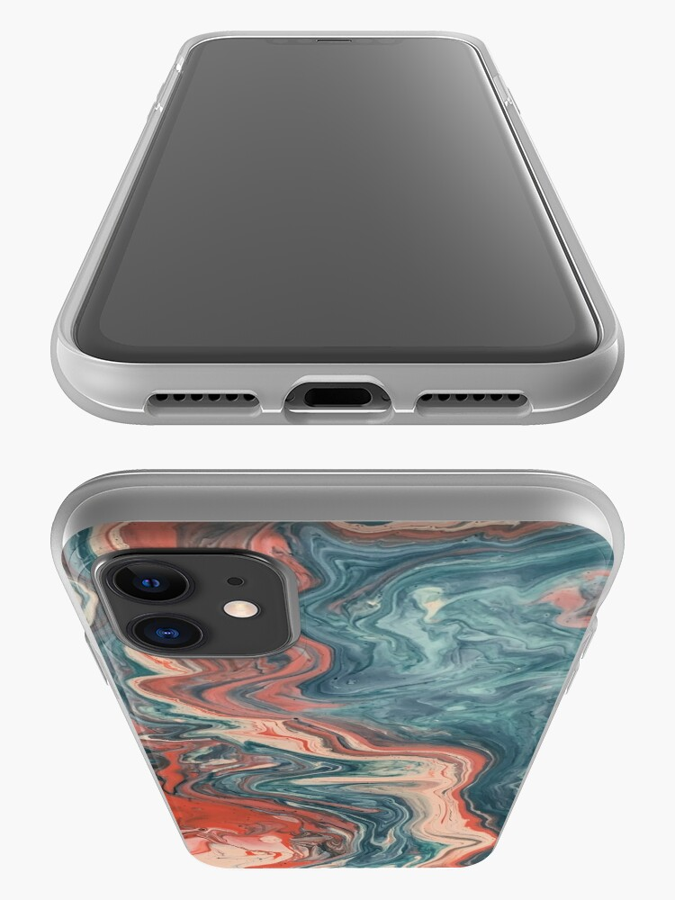 Alternate view of Red and blue art phone case iPhone Case & Cover