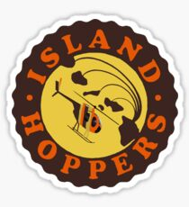 Island Hoppers /brown Sticker