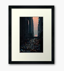 Manhattanhenge 2011 Framed Print