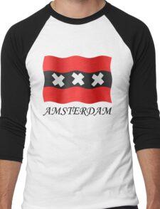 Amsterdam vlag Men's Baseball ¾ T-Shirt
