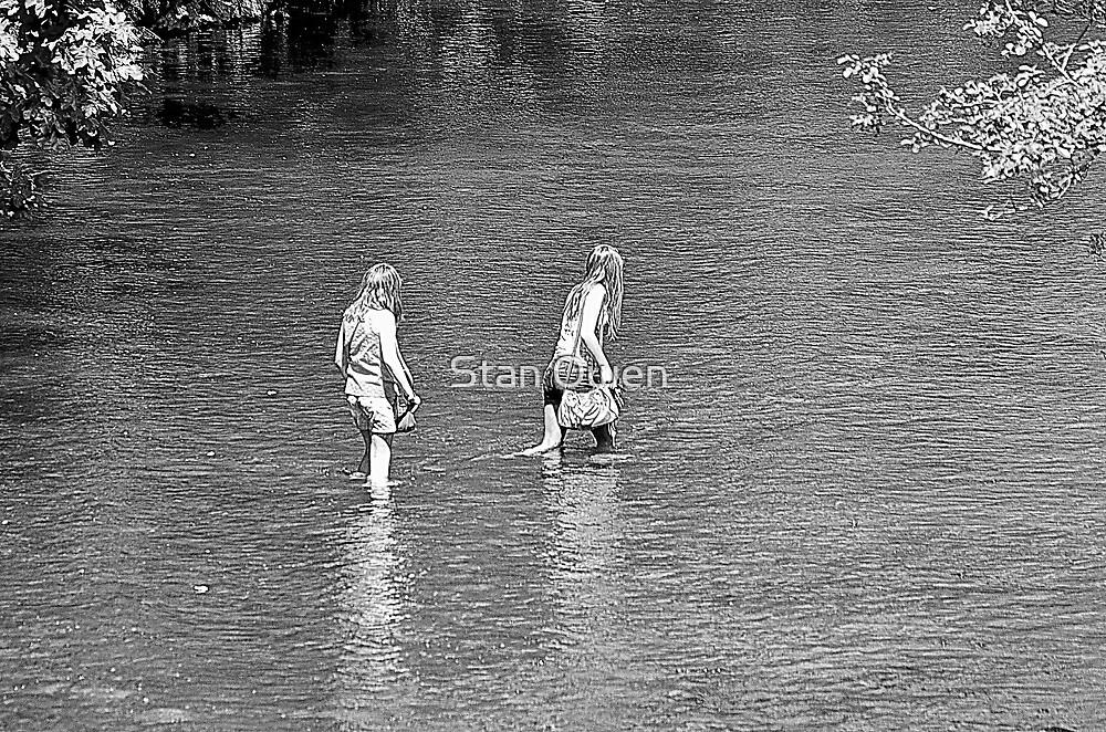 Girls Paddling  by Stan Owen