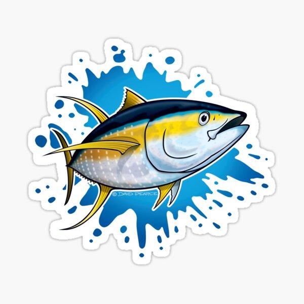 Yellowfin Tuna Splash Sticker
