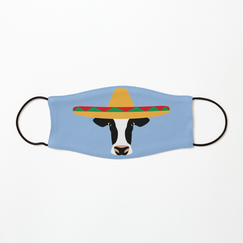 NDVH Cow Wearing a Sombrero Mask