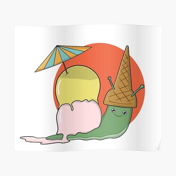 the ice cream slug. Poster