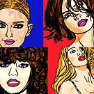 Lily Donaldson Abbey Lee Kershaw Rosie Huntington and Catherine Mc Neil by Rachedi Kamel