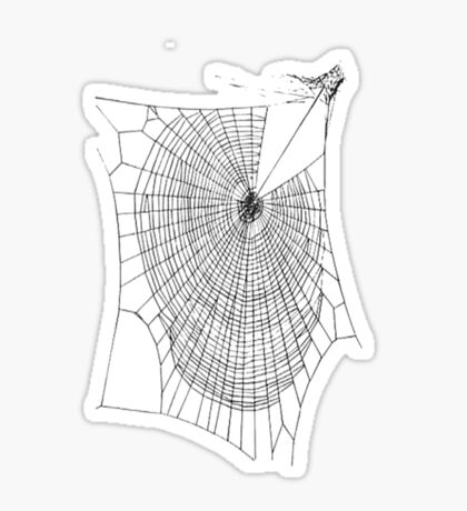 A Large Illustration Of A Spider's Web Sticker
