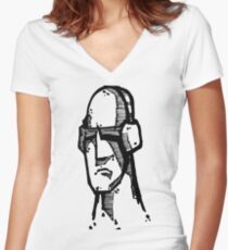 MusicMan Women's Fitted V-Neck T-Shirt