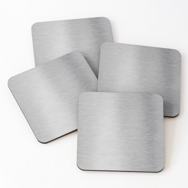 Brushed stainless steel plate Coasters (Set of 4)