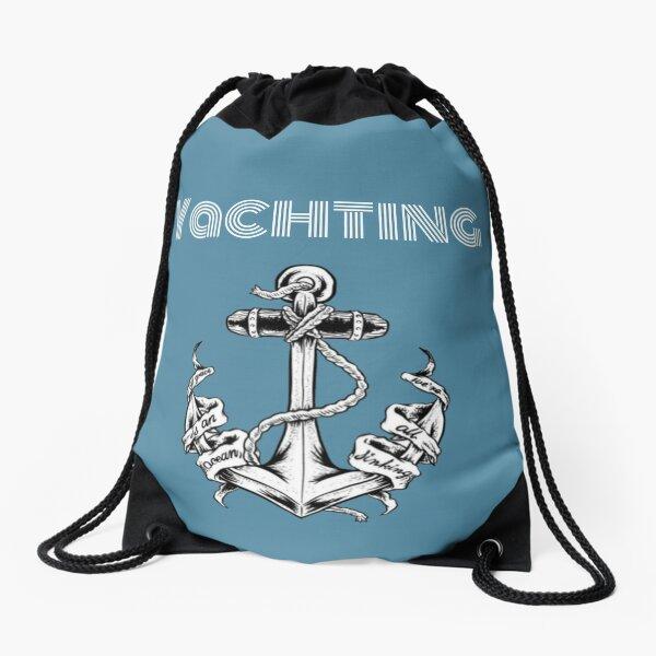 Yachting ocean  Drawstring Bag