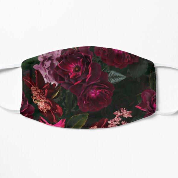 Antique Midnight Botanical Flower Rose Garden Flat Mask