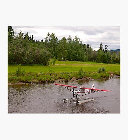 Fairbanks, Alaska, Bush Pilot, Piper Super Cub Floatplane. Photographic Print