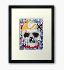 Street Skull Framed Print