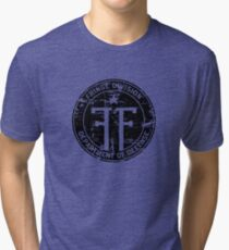 Fringe Division (dark print and stickers) Tri-blend T-Shirt