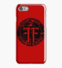 Fringe Division (dark print and stickers) iPhone Case/Skin