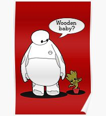 Wooden Baby Poster