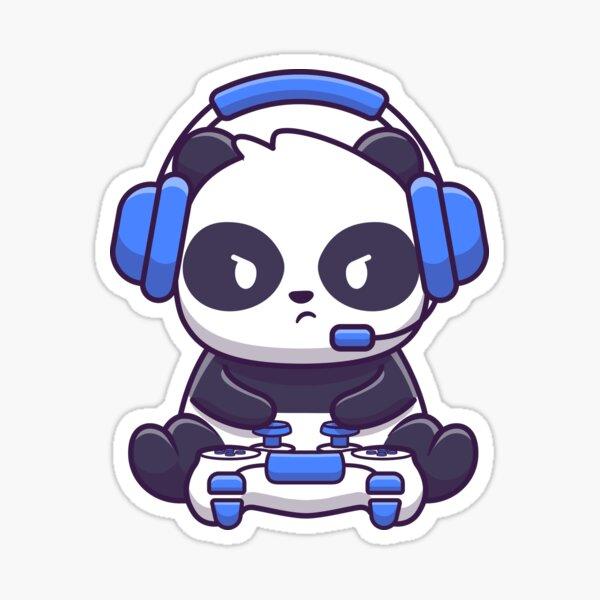 Gaming Panda Sticker