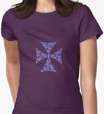 Lindisfarne St Johns Knot Tattoo In Lilac Women's Fitted T-Shirt