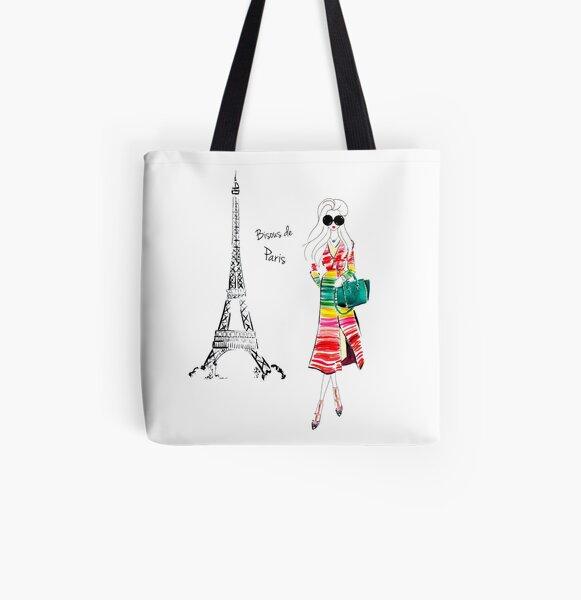 Bisous Paris All Over Print Tote Bag