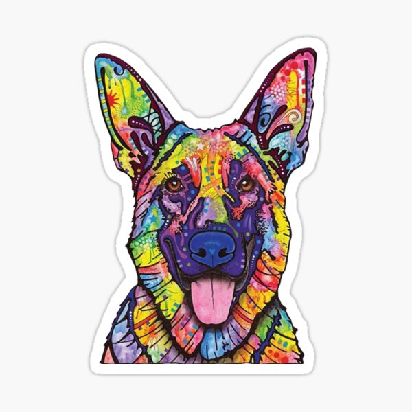 German Shepherd Dog Lovers Gift Sticker