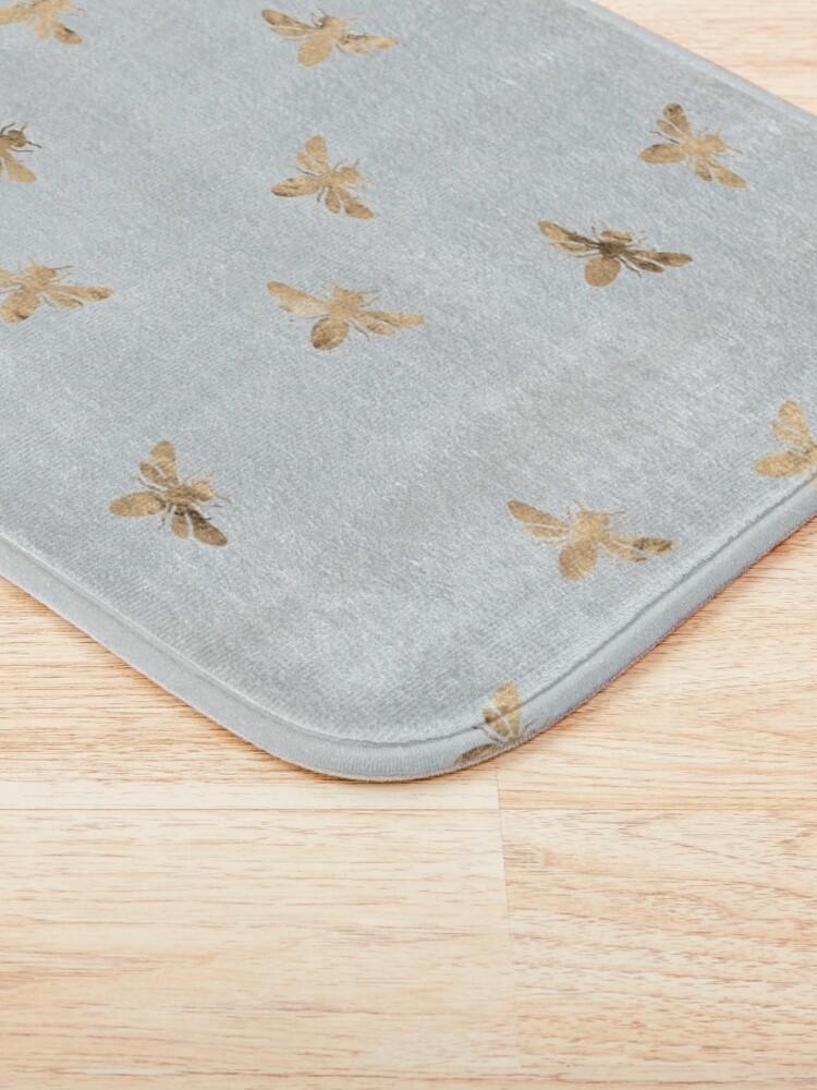 Alternate view of Rose Gold Bees Pattern Bath Mat