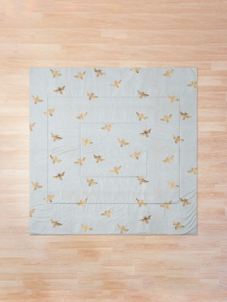 Alternate view of Rose Gold Bees Pattern Comforter
