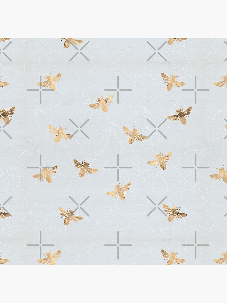 Rose Gold Bees Pattern by depresident