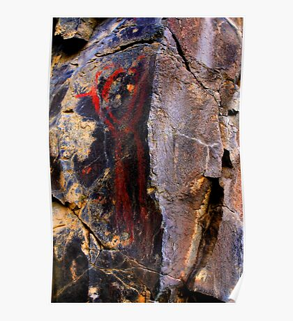 Ice Age Rock Art from Oregon Poster
