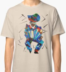 Cubist Portrait of Accordian Player Isolated on White Classic T-Shirt