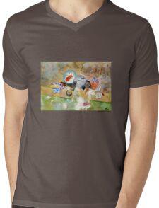 Washing Mens V-Neck T-Shirt