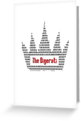 The Digerati artwork (black version) by f451