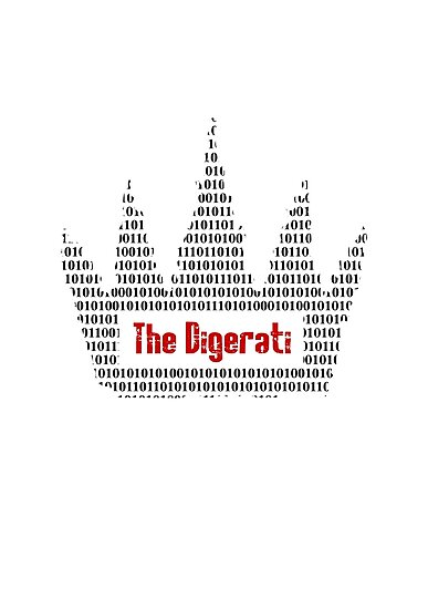 The Digerati artwork (black version) by f451