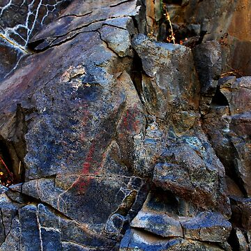 Colorful Eastern Oregon ancient rock art by fnature