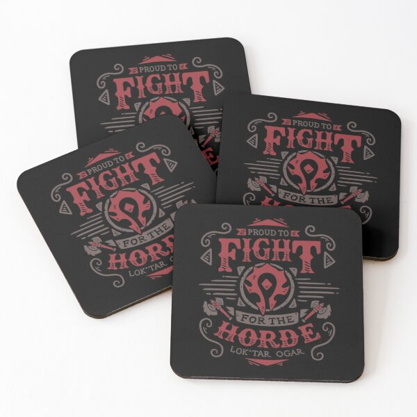 Fight for the Horde Coasters (Set of 4)