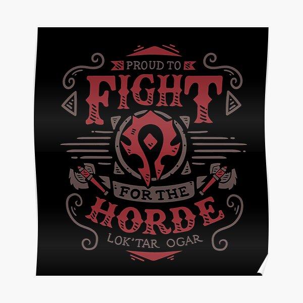 Lutte pour la Horde - Rpg de jeu - Art vintage Poster