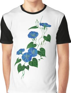 Blue Bindweed Isolated on White Graphic T-Shirt