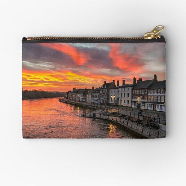 Sunrise over the Severn Zipper Pouch