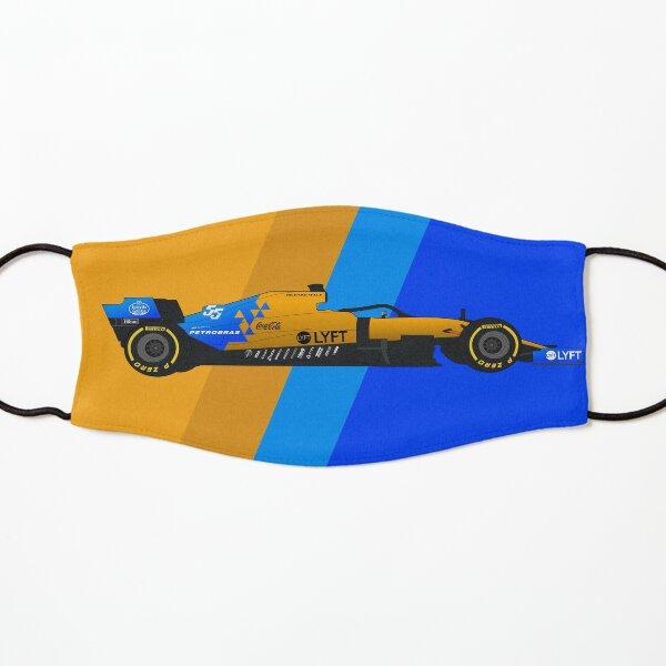 Hand-drawn Formula 1 McLaren MCL34 Digital Artwork Carlos Sainz Kids Mask