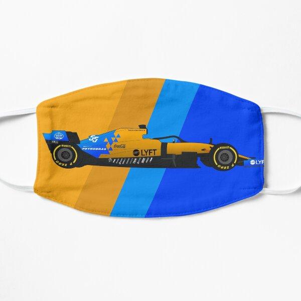 Hand-drawn Formula 1 McLaren MCL34 Digital Artwork Carlos Sainz Flat Mask