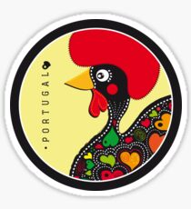 Symbols of Portugal - Rooster of Barcelos Sticker