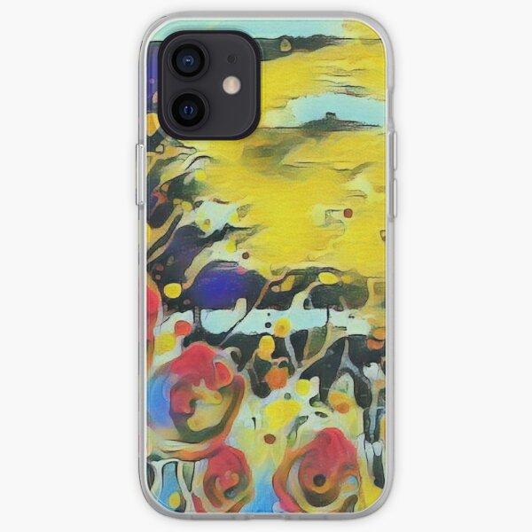 Poppy Garden 19 designed & created by (c) Janet Watson Art   iPhone Soft Case