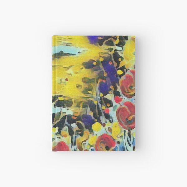 Poppy Garden 19 designed & created by (c) Janet Watson Art   Hardcover Journal