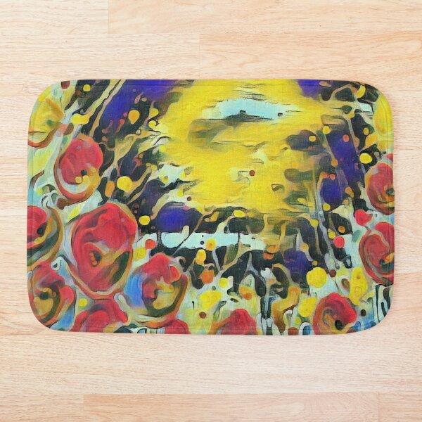 Poppy Garden 19 designed & created by (c) Janet Watson Art   Bath Mat