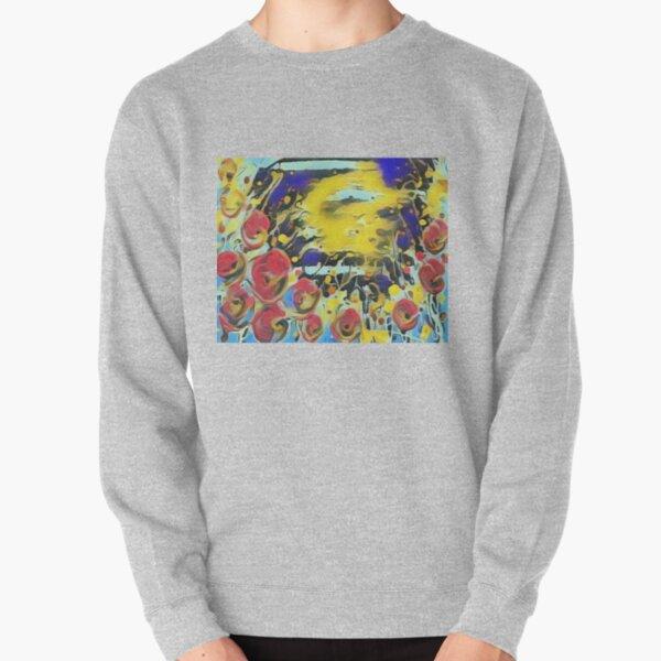 Poppy Garden 19 designed & created by (c) Janet Watson Art   Pullover Sweatshirt