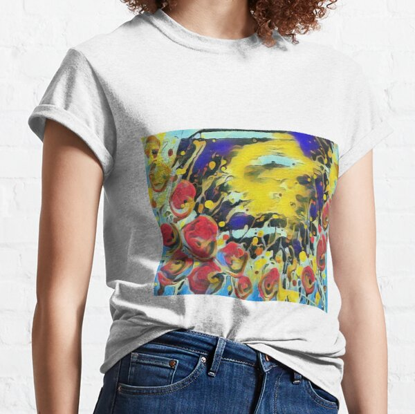 Poppy Garden 19 designed & created by (c) Janet Watson Art   Classic T-Shirt