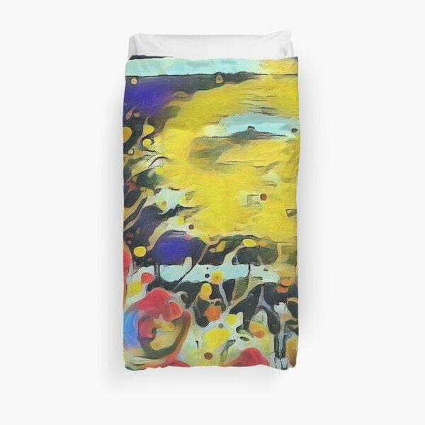Poppy Garden 19 designed & created by (c) Janet Watson Art   Duvet Cover