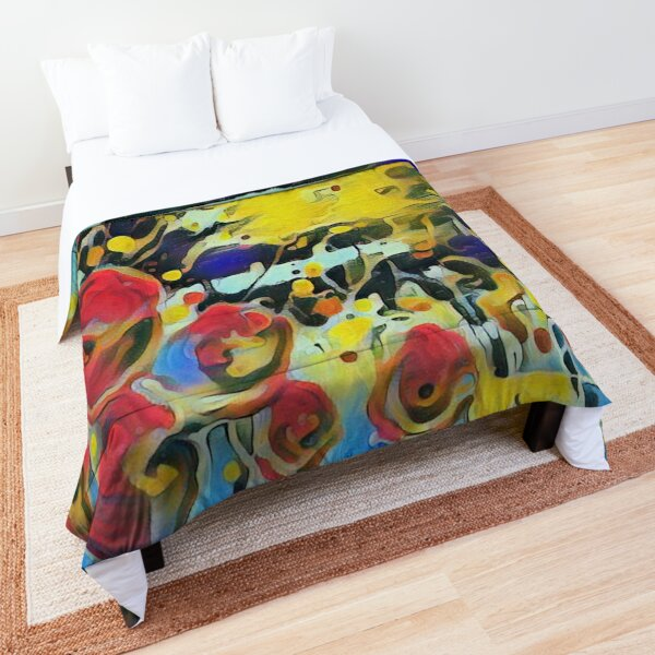 Poppy Garden 19 designed & created by (c) Janet Watson Art   Comforter